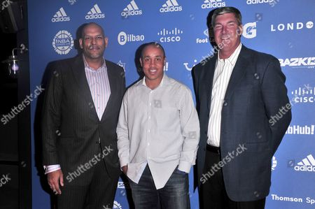 Stock Picture of John Amaechi, John Stars and Bill Laimbeer