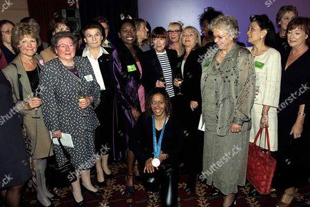 Women Of The Year: (not L To R) Helen Lederer And Esther Rantzen Mary Quant Kelly Holmes Jenny Pitman Diane Keen Floella Benjamin Germaine Greer Etc. In June 2010 Floella Benjamin Became Baroness Benjamin Of Beckenham.