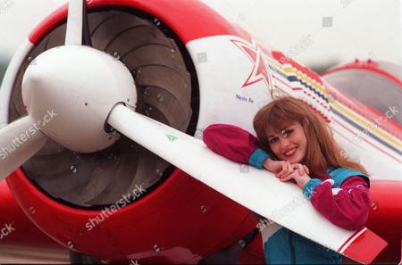World Champion Aerobatic Russian Pilot Svetlana Kapanina Will Fly A Stunning Series Of Solo Manoeuvres In Her Sukhoi Aircraft At Biggin Hill Air Show This Weekend.