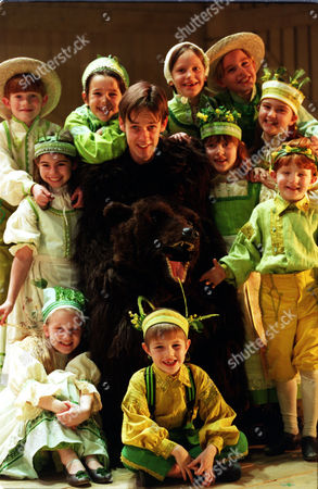 Ian Bostridge With Children From The Royal Opera Production Of 'the Bartered Bride' The First Opera To Be Performed At Sadlers Wells After Renovation.