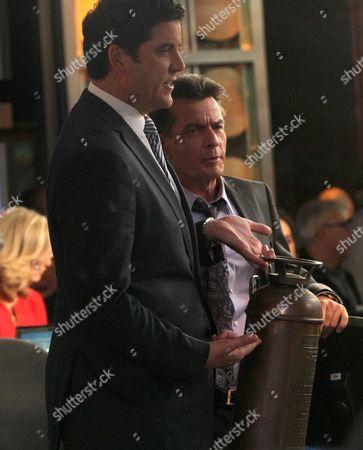 Josh Elliot and Charlie Sheen