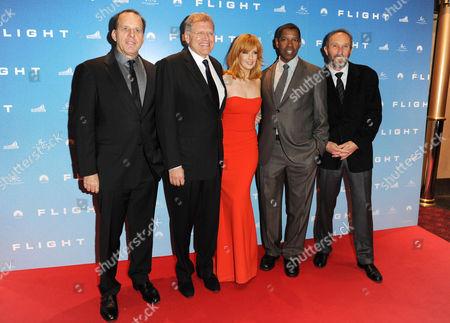 Steve Starkey, Robert Zemeckis, Kelly Reilly, Denzel Washington and Jack Rapke