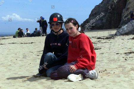 Josie Russell Who Four Years Ago Was Was Left Fighting For Her Life After A Hammer Attack That Left Her Mother Lin And Sister Megan Dead In A Country Lane Near Her Home In Chillenham Kent Is Now Enjoying Life At Caldy Island South Wales Photo Shows Josie Russell With Jemma Telford Age14 From Newcastle At The Adventure Week-end In Wales.