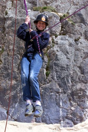 Josie Russell Who Four Years Ago Was Was Left Fighting For Her Life After A Hammer Attack That Left Her Mother Lin And Sister Megan Dead In A Country Lane Near Her Home In Chillenham Kent Is Now Enjoying Life At Caldy Island South Wales Photo Shows Josie Russell Absails At The Adventure Week-end In Wales.