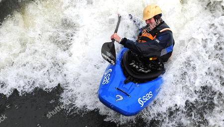 Shaun Baker 44 World Record Kayak Champion Pictured On The Thames.