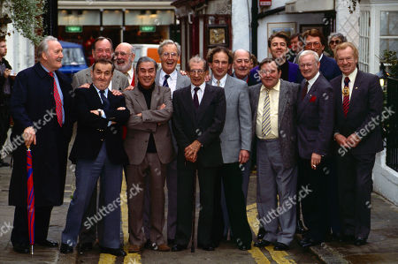 David Lodge, Jack Douglas, Graham Stark, Burt Kwouk, Nicholas Parsons, Alfred Marks, Terry Scott, Jonathan Ross, John Inman and others, at Dead Comics Society event