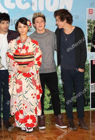 Maki Horikita, Niall Horan and Harry Styles