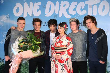 Liam Payne, Louis Tomlinson, Zayn Malik, Japanese actress Maki Horikita, Niall Horan, Harry Styles