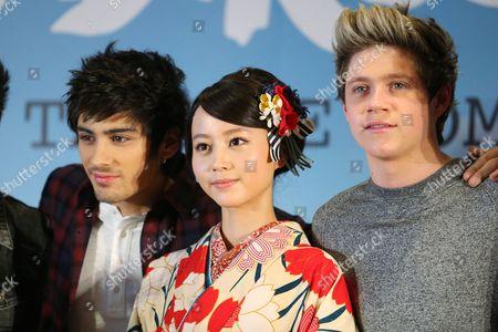 Zayn Malik, Japanese actress Maki Horikita, Niall Horan