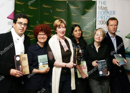 The Man Booker Prize For Fiction 2006 Shortlist Line-up Of Authors L To R:- Hisham Matar Kate Grenville M J Hyland Kiran Desai Sarah Waters Edward St Aubyn.