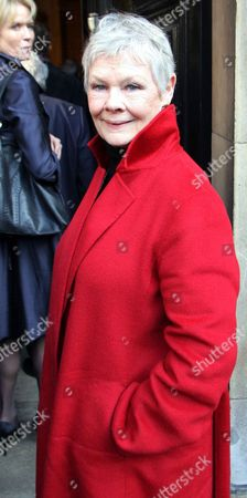 Stock Photo of Judi Dench Pictured At The Ned Sherrin Memorial Service At St Paul's Church Covent Garden.
