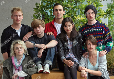 Cast Of Punk A New Production At The Lyric Hammersmith Back: Nicholas Banks Henry Lloyd Hughes And Tom Sturridge Front: Tanya Gleason Harry Mcentire Sophie Wu And Lily Cahill.