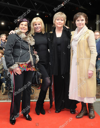 Stock Image of Eunice Gayson 80 Britt Ekland 69 Jenny Hanley 64 Madeleine Smith 62 Former Bond Girls At The Opening Of The ' Bond In Motion' Launch At The National Motor Museum.