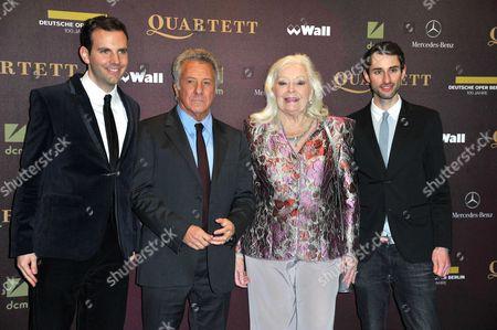 Dario Suter, Dustin Hoffman, Dame Gwyneth Jones and Joel Brandies