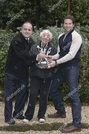 Director of Capri Hollywood Award Pascal Vicedomini and Director and President of Capri Hollywod Award Lina Wertmuller gives the prize to Bradley Cooper for Best Actor of the Year