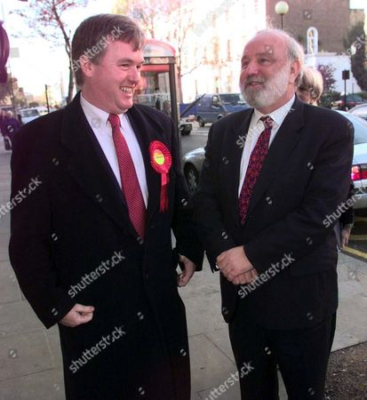 Frank Dobson Candidate For Mayor Of London (r) And Robert Atkinson Labour Candidate For Kensington And Chelsea Seat Tour The Kings Road.