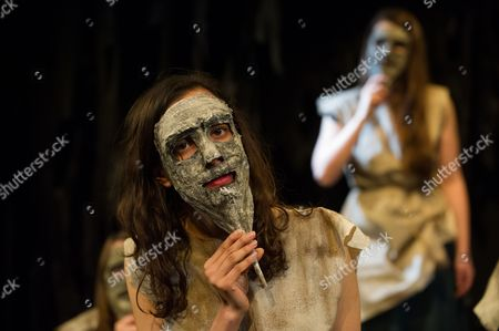 Stock Photo of 'The Trojan Women' - Avita Jay (Polyxena) as a member of the Chorus
