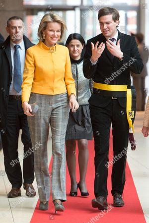 Crown Princess Mathilde of Belgium and Schepen De Clercq