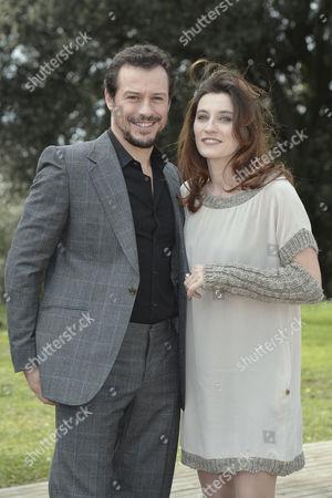 Stock Photo of Stefano Accorsi and Francesca Beggio