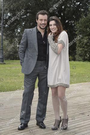 Stock Image of Stefano Accorsi and Francesca Beggio