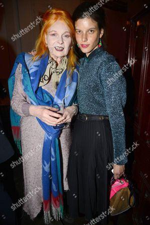 Stock Image of Vivienne Westwood and Tati Cotliar