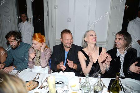 Stock Image of Andreas Kronthaler, Vivienne Westwood, Juergen Teller, Kristen McMenamy and Ivor Blackner