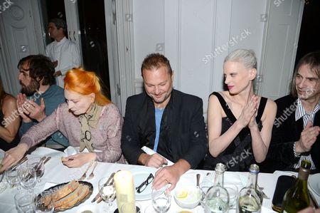 Stock Photo of Andreas Kronthaler, Vivienne Westwood, Juergen Teller, Kristen McMenamy and Ivor Blackner