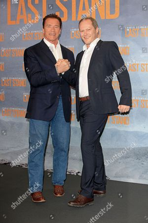 Stock Picture of Arnold Schwarzenegger and Andreas R. Klein