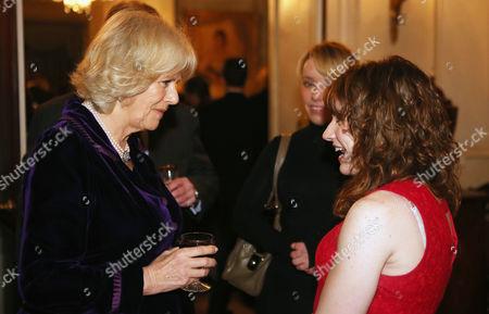 Camilla Duchess of Cornwall chats to Para-Equestrian Dressage rider Natasha Baker