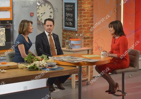 Jayne Secker and Hugo Rifkind with Lorraine Kelly