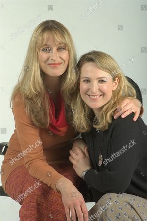 Actresses / Sisters Carol Royle (left) And Amanda Royle (right) Who Appear In Bbc's Crime Traveller. (carol Is The Taller).