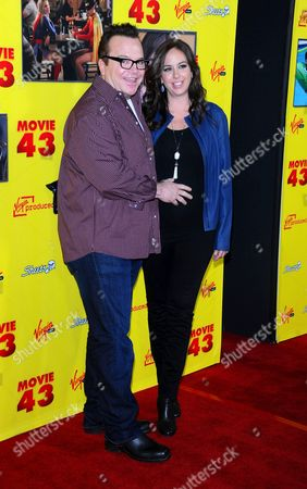 Tom Arnold and wife Ashley Groussman