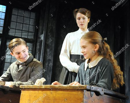 Laurence Belcher as Miles, Anna Madeley as the Governess, Emilia Jones as Flora