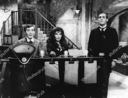 Kenneth Williams, Fenella Fielding and Bernard Bresslaw