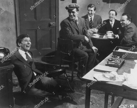 Kenneth Williams, Bill Owen, Terence Longdon, Charles Hawtrey and Kenneth Connor