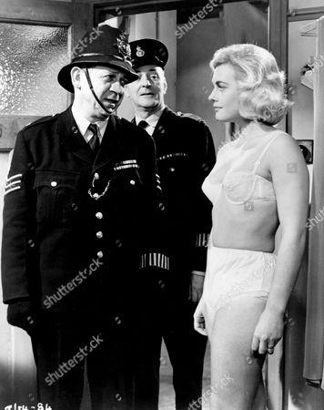 Sid James, Cyril Chamberlain and Shirley Eaton