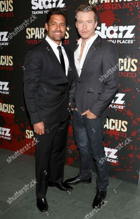 Manu Bennett and Dustin Clare