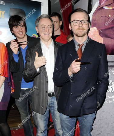 Ben Timlett, Jeff Simpson and Simon Pegg
