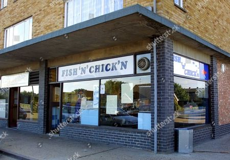 Editorial photo of The Fish'n Chick'n Shop Where Tracy Wright Worked In St.ives Huntingdon Whilst Awaiting The Trial. A Punch To The Stomach. Murder Victim Lauren Wright 6 Years Old Father And Step Mother Stand Trial At Norwich Crown Court.the Stepmother Of Lauren Wr