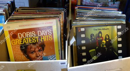Old Vinyl Albums At The Auction Of Property Owned By John Entwistle The Former Bass Guitarist With 'the Who' At Frogmill Hotel Andoversford Gloucestershire.