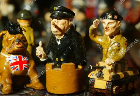 Figures From A Novelty Chess Set Tha Fetched A800 At The Auction Of Property Owned By John Entwistle The Former Bass Guitarist With 'the Who' At Frogmill Hotel Andoversford Gloucestershire.