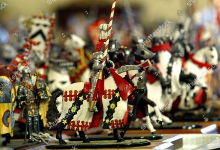 Model Soldiers Among The Lots At The Auction Of Property Owned By John Entwistle The Former Bass Guitarist With 'the Who' At Frogmill Hotel Andoversford Gloucestershire.