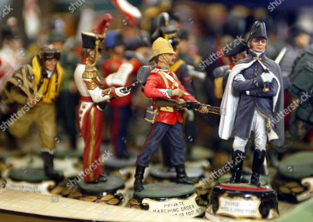 Historical Model Soldiers Among The Lots At The Auction Of Property Owned By John Entwistle The Former Bass Guitarist With 'the Who' At Frogmill Hotel Andoversford Gloucestershire.