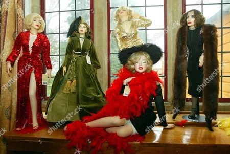 Marilyn Monroe Dolls Among The Lots At The Auction Of Property Owned By John Entwistle The Former Bass Guitarist With 'the Who' At Frogmill Hotel Andoversford Gloucestershire.