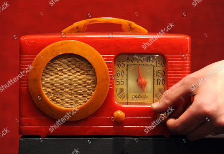 A Motorola 50xc Singleband Radio From The Jeff Salmon Radio Collection In The Rarest Combination Of Watermelon Red And Amber Expected To Fetch Between A4000 - A6000 When It Goes Up For Auction At Bonhams Knightsbridge On Tuesday 28th April 2009.