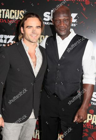 Dustin Clare and Peter Mensah