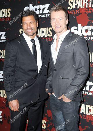 Manu Bennett and Todd Lasance