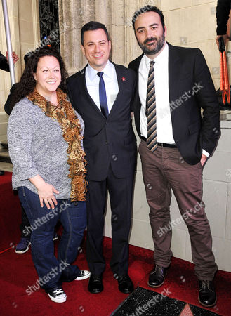 Stock Picture of Jill Kimmel, Jimmy Kimmel and Jonathan Kimmel