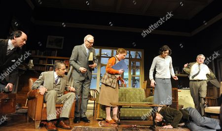Will Keen as Derek, Rowan Atkinson as St John Quartermaine, Malcolm Sinclair as Eddie, Felicity Montagu as Melanie, Louise Ford as Anita, Matthew Cottle as Mark, Conleth Hill as Henry