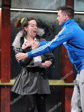 Kate O'Flynn as Racheal, Danny Kelly as Chris